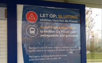 Station Heerlen de Kissel gaat dicht