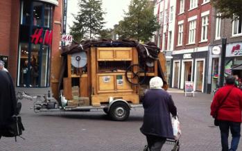Een draaiorgel zorgt voor overlast in Heerlen