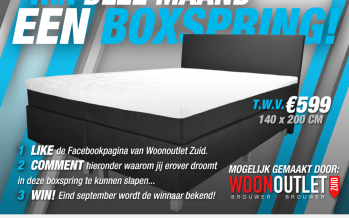 Jessica wint een boxsping t.w.v. €599!