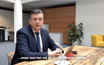 Burgemeester Emile Roemer van Heerlen spreekt de inwoners toe