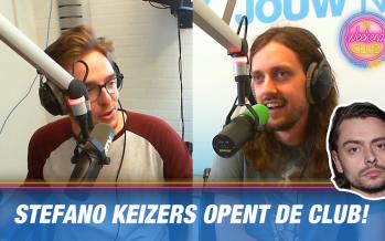 Stefano Keizers opent de Weekendclub